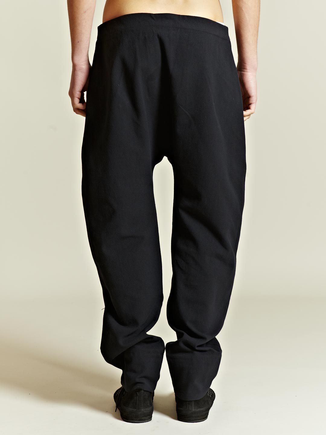 Marvielab Marvielab Mens Drop Crotch Pants In Black For