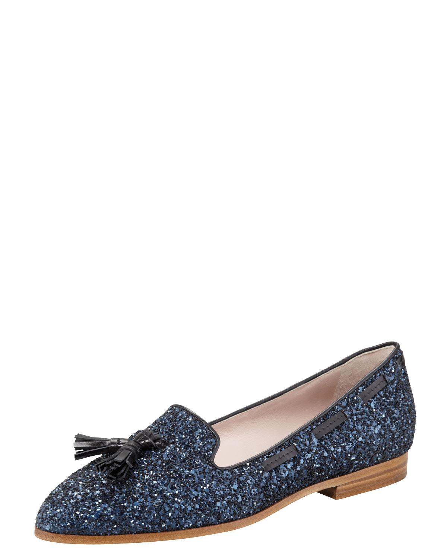 sale outlet store low cost cheap online Miu Miu Tassel Glitter Loafers rqw53o9AQv