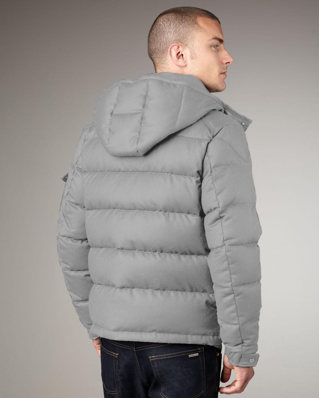 Lyst Moncler Montgenevre Hooded Puffer Jacket In Gray