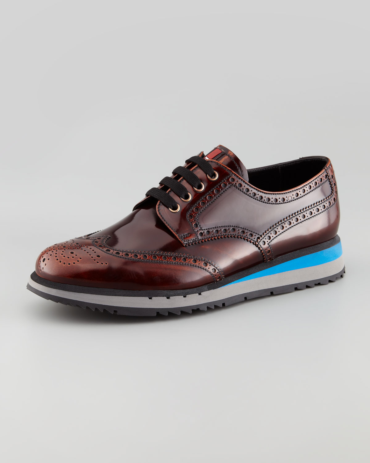 Prada Sport Wingtip Leather Oxfords outlet in China outlet real 1SN42