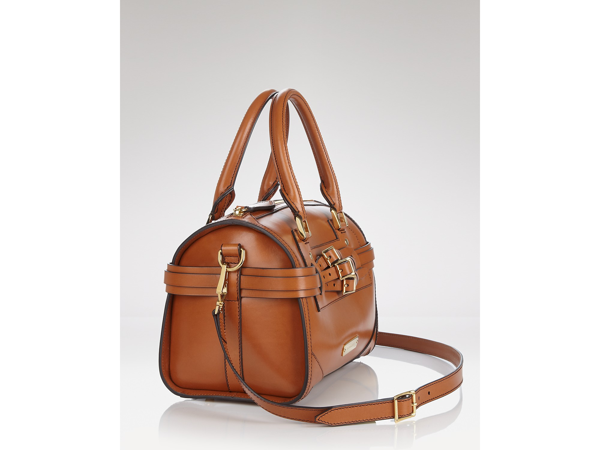 Lyst - Burberry Satchel Bridle Leather Medium Alchester in Brown 18d5d91e68ae1