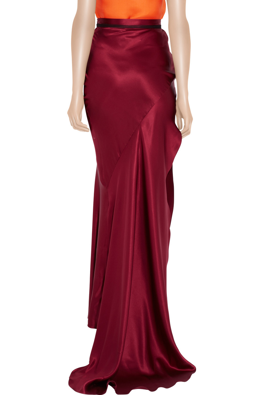 Roksanda Silk-satin Maxi Skirt in Red | Lyst