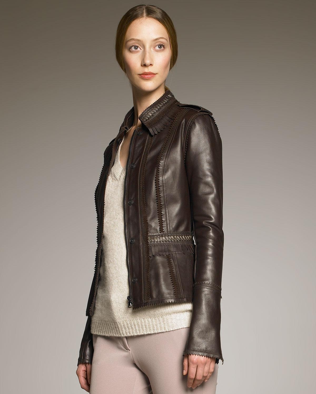 Chocolate Brown Leather Jacket - Best Jacket 2017