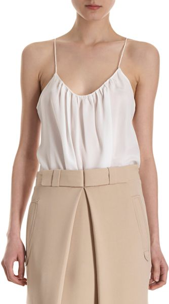 Chloé Gathered Camisole in White (ivory)