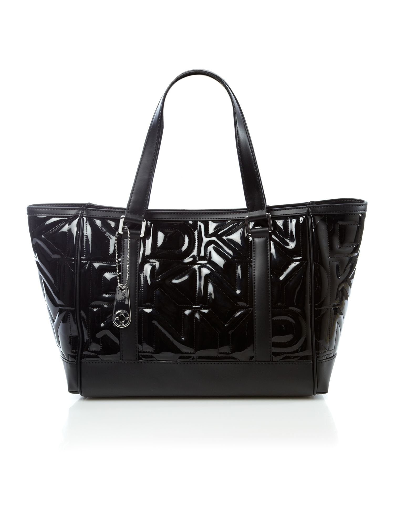 DKNY Quilted Logo Tote in Black