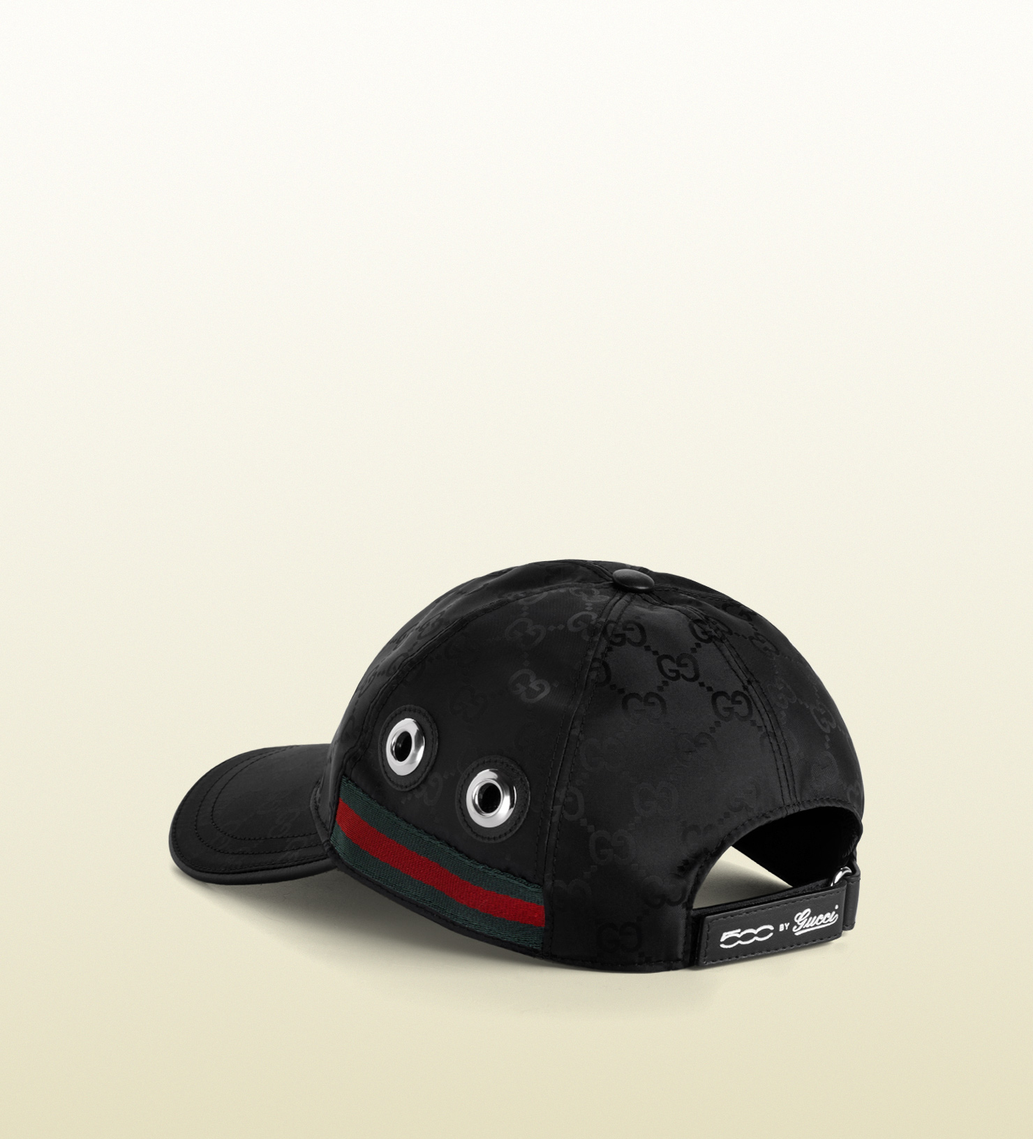 Lyst - Gucci Baseball Hat with Grommets and Adjustable Hookandloop ... 6953063b112