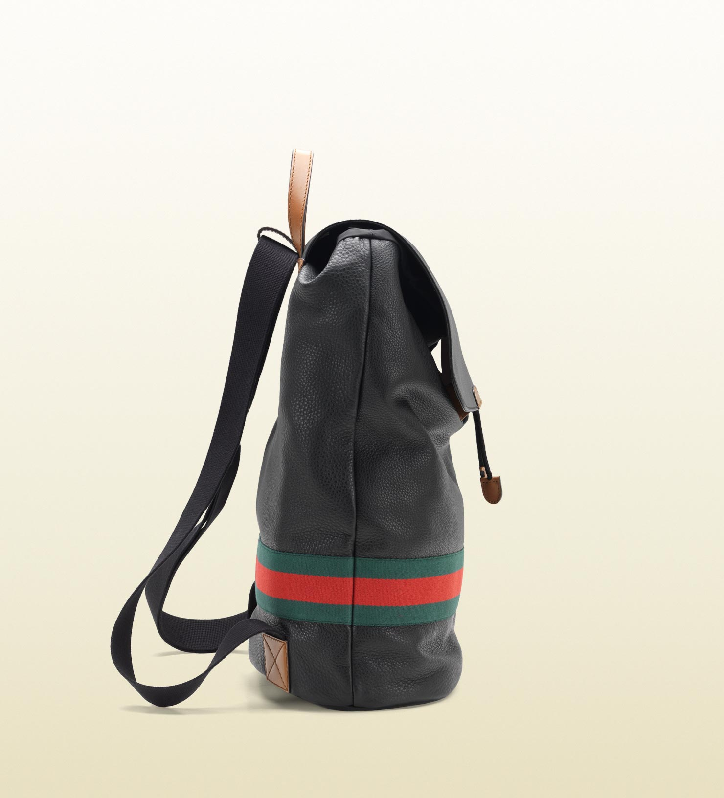 Gucci Signature Web Backpack in Black for Men - Lyst