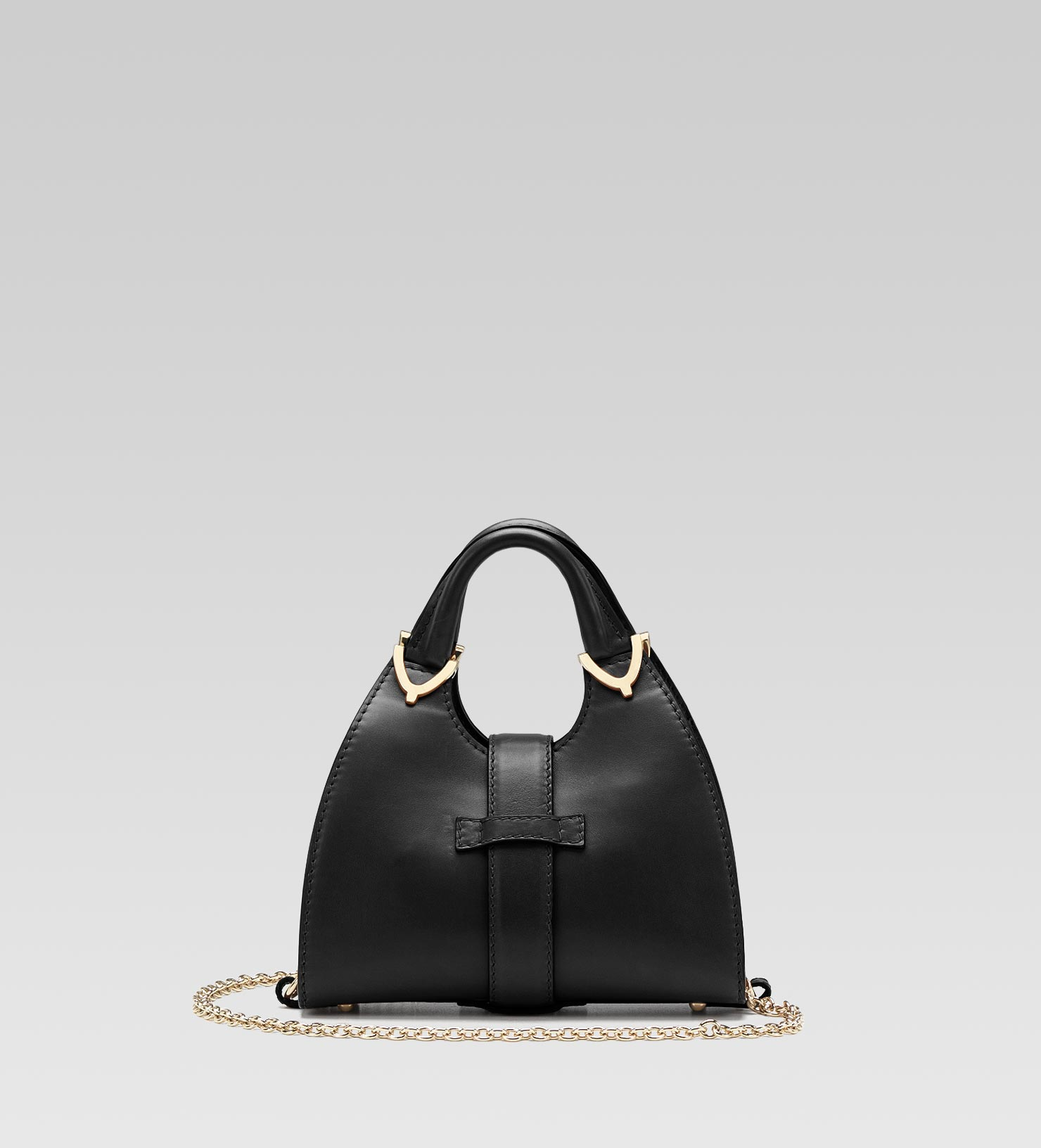 4917c4fa9ea Lyst - Gucci Stirrup Top Handle Bag with Spur Detail in Black