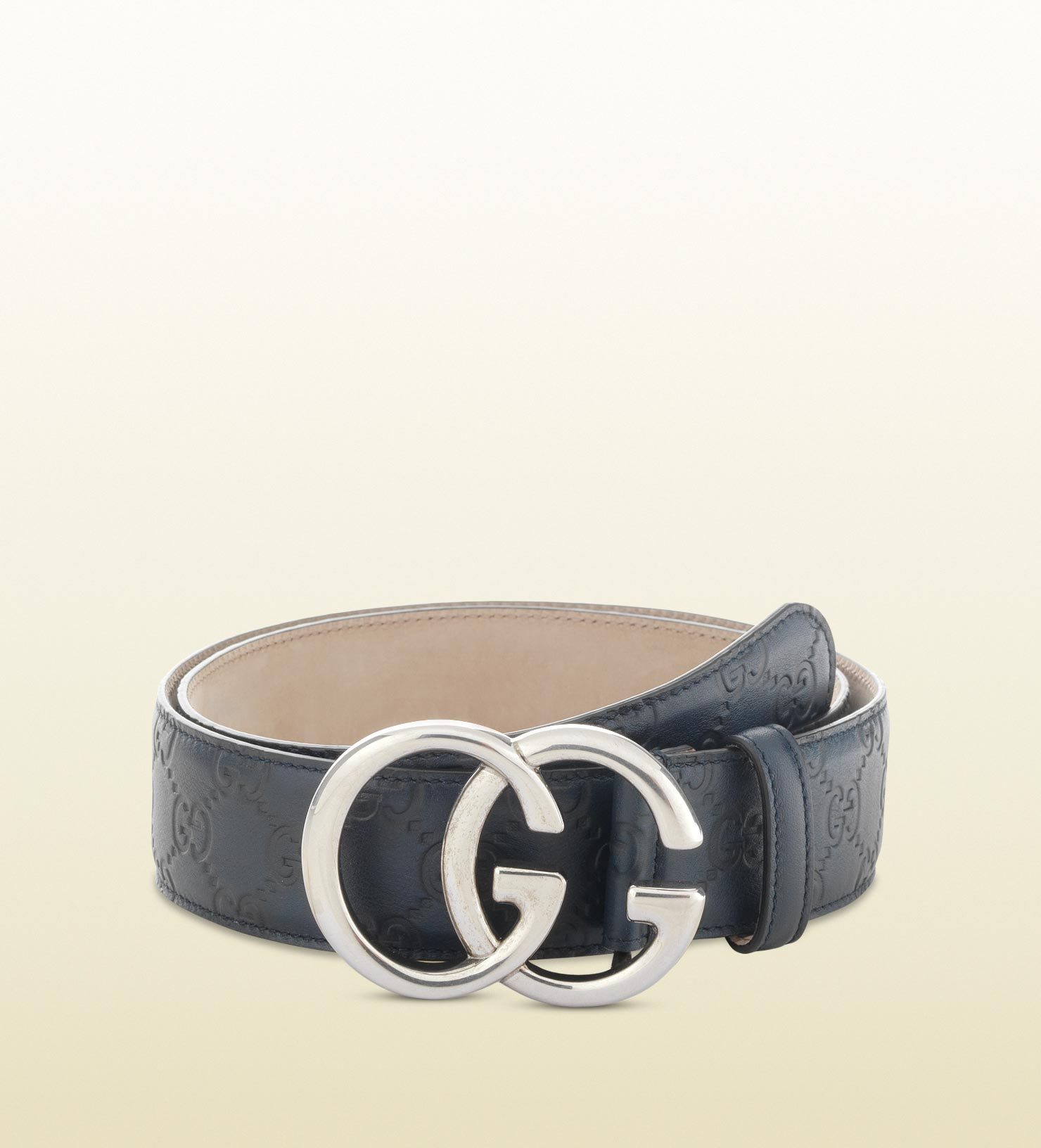 Gucci Belt With Double G Buckle In Blue For Men Lyst