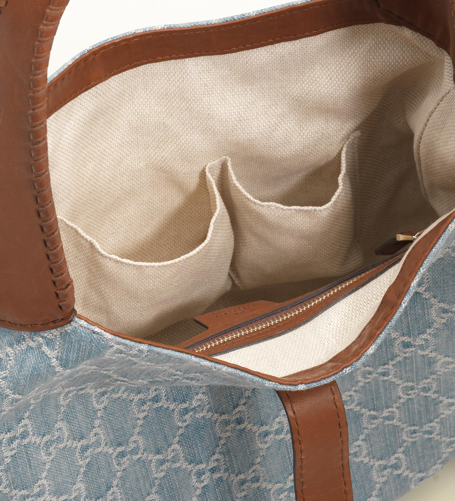 23232585f36bd Lyst - Gucci New Jackie Denim Gg Canvas Shoulder Bag in Blue
