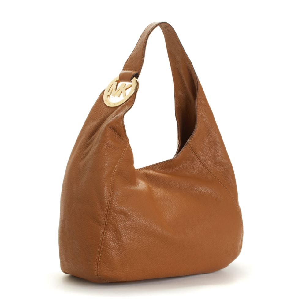 7a8a5061a7e7 ... order lyst michael kors michael handbag fulton shoulder bag large in  brown 38108 7cd6c ...