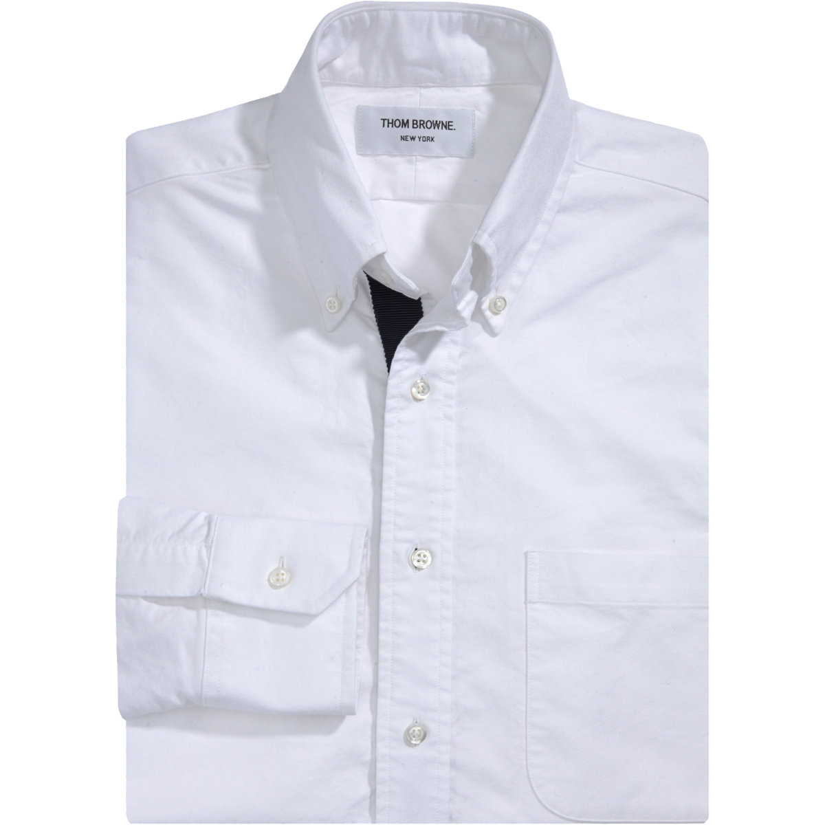 Lyst thom browne oxford shirt in white for men for Thom browne white shirt