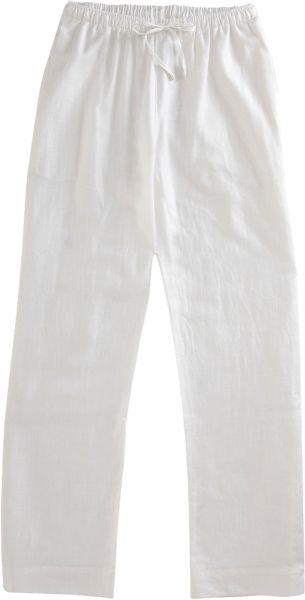 Zimmerli Lightweight Drawstring Pant In White For Men Lyst