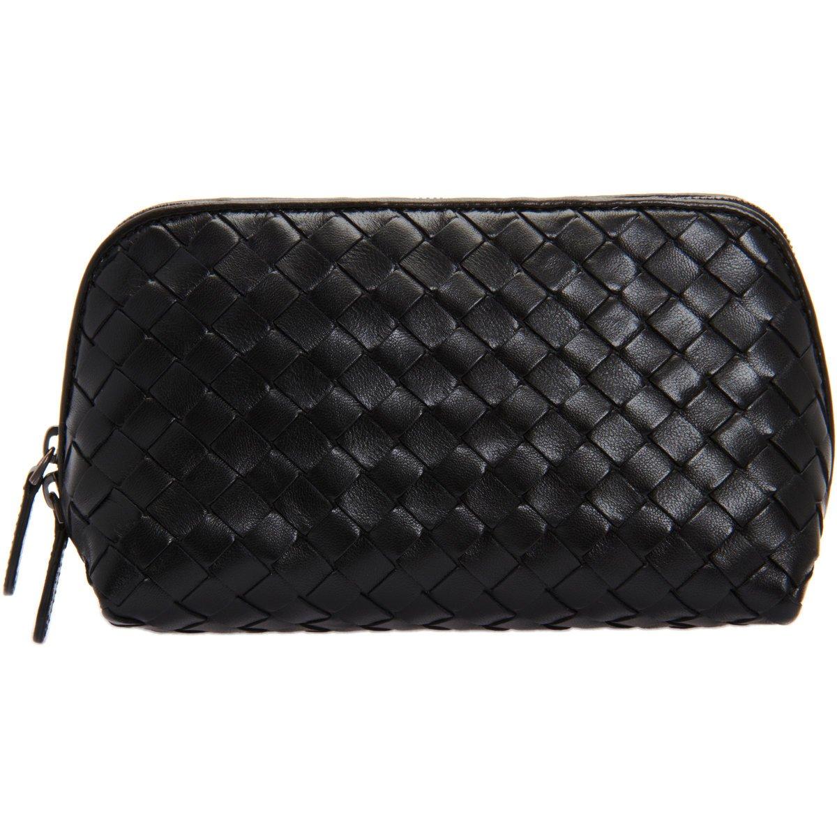Bottega Veneta Medium Intrecciato Cosmetic Bag in Black - Lyst 7a0a170465edf