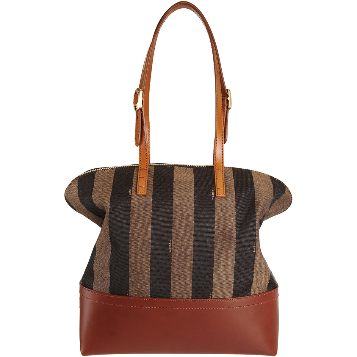 2649b78a76 ... Thin Striped Fendi Handbags: Fendi Pequin Stripe 2Bag In Brown