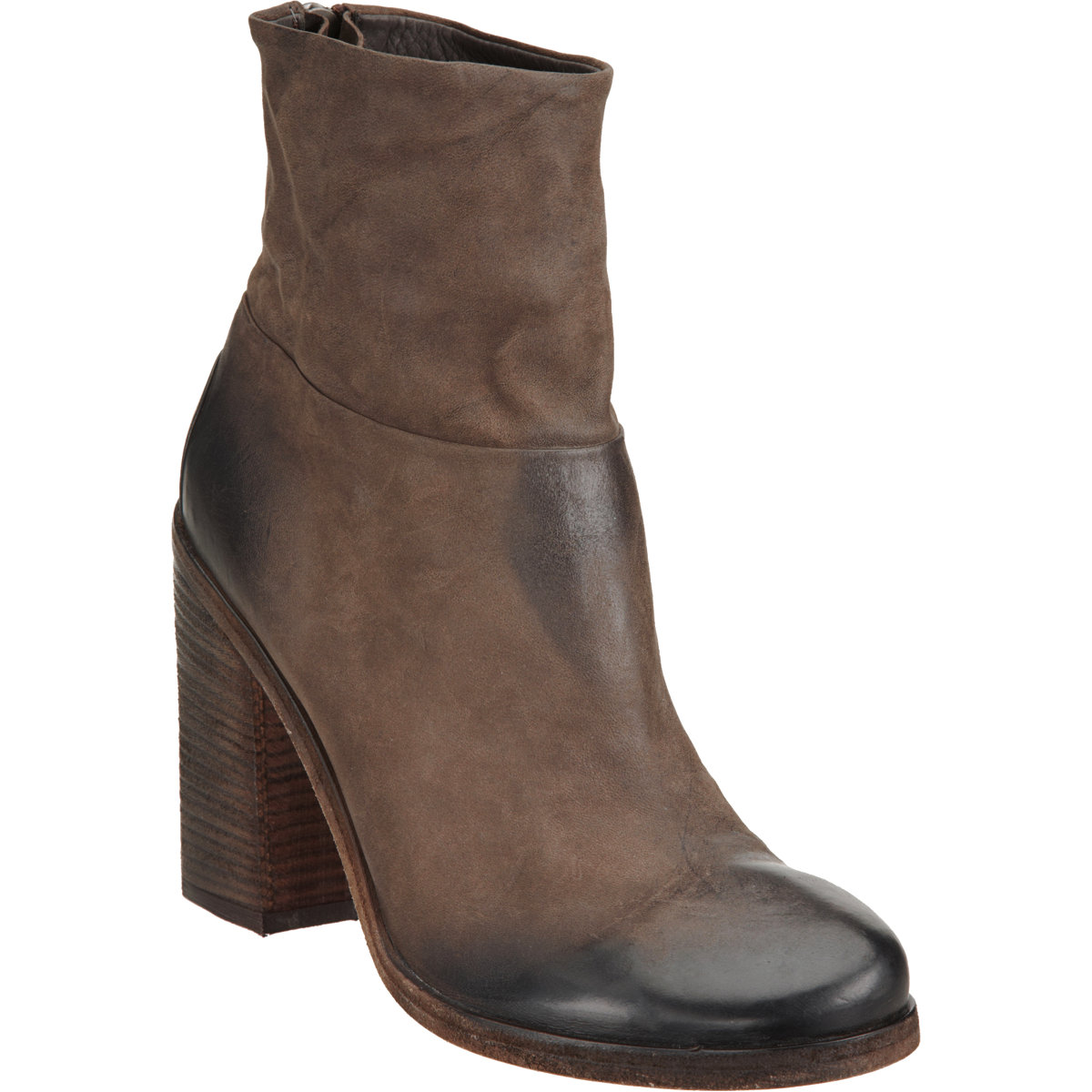 marsell stacked heel ankle boot in brown lyst