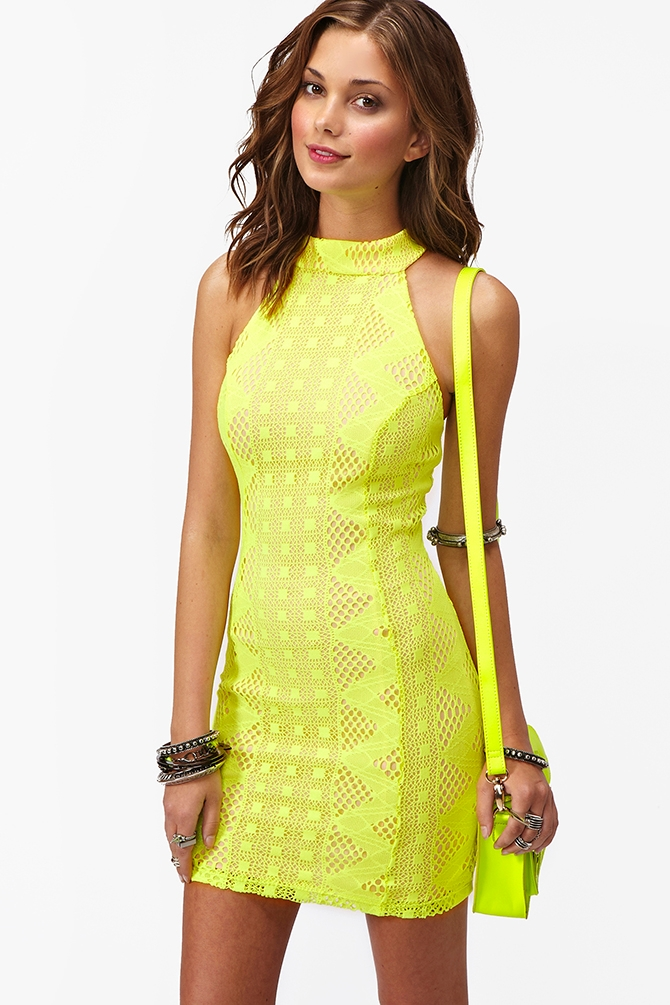 Lyst - Nasty Gal Bright Lights Dress in Yellow