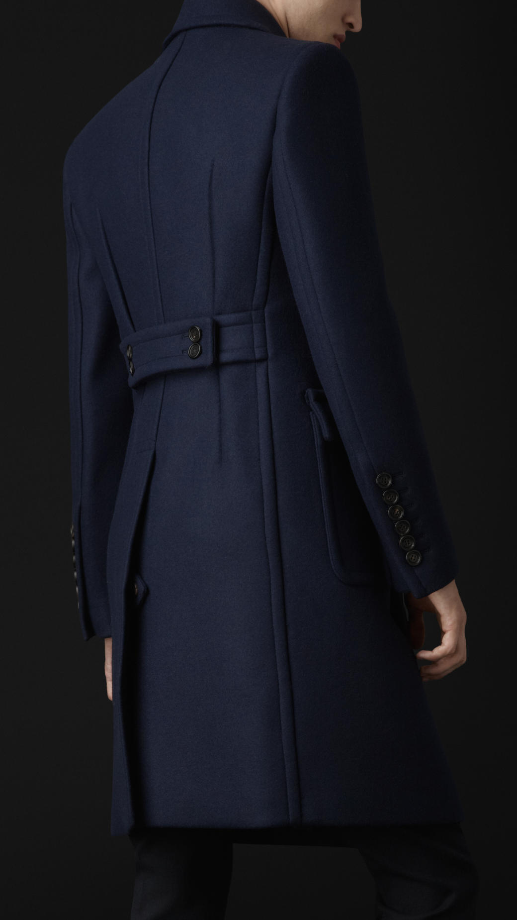 Lyst Burberry Prorsum Wool Felt Tailored Coat In Blue