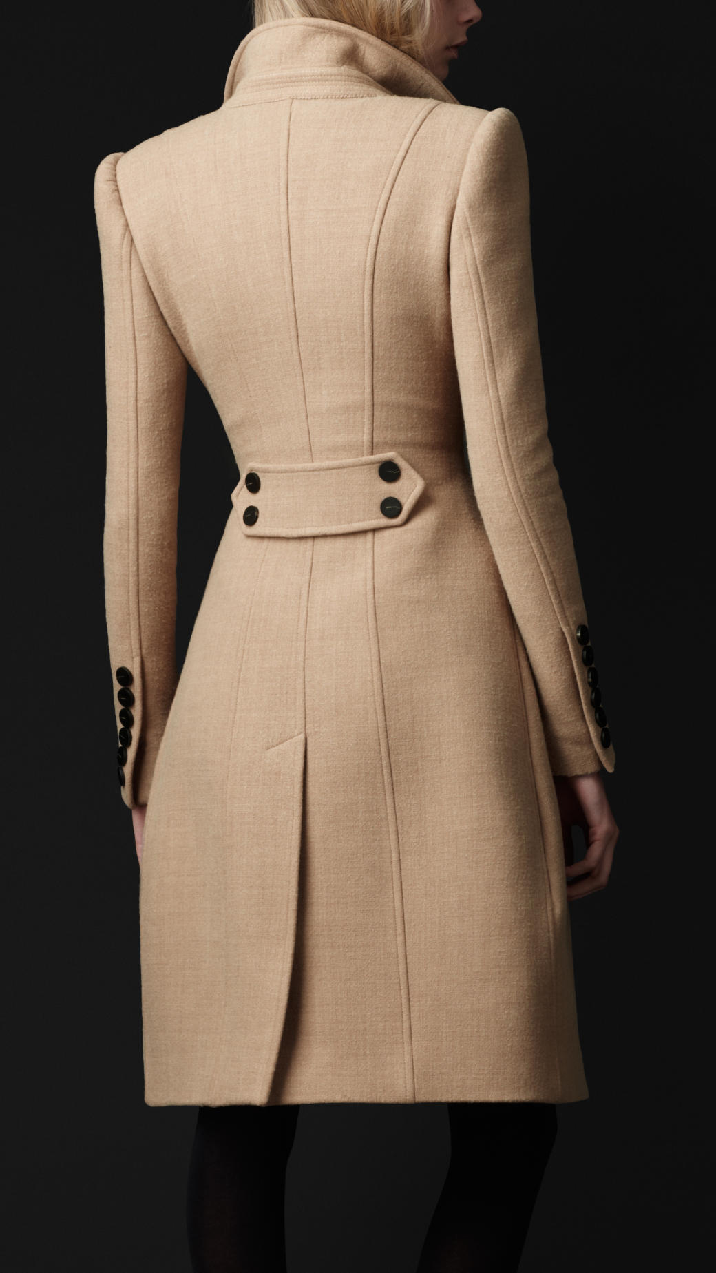 Lyst Burberry Prorsum Cr 234 Pe Wool Tailored Coat In Natural