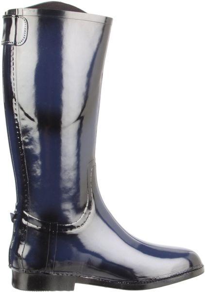 Dav D 228 V Womens Equestrian Rain Boot In Blue Navy Lyst