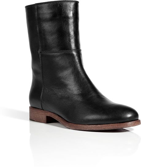 l autre chose black flat ankle boots in black lyst