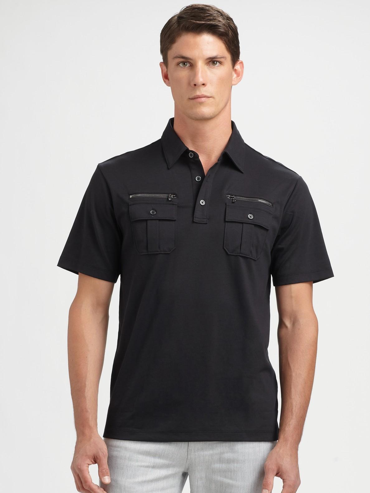 Zipper Pocket Polo Shirt
