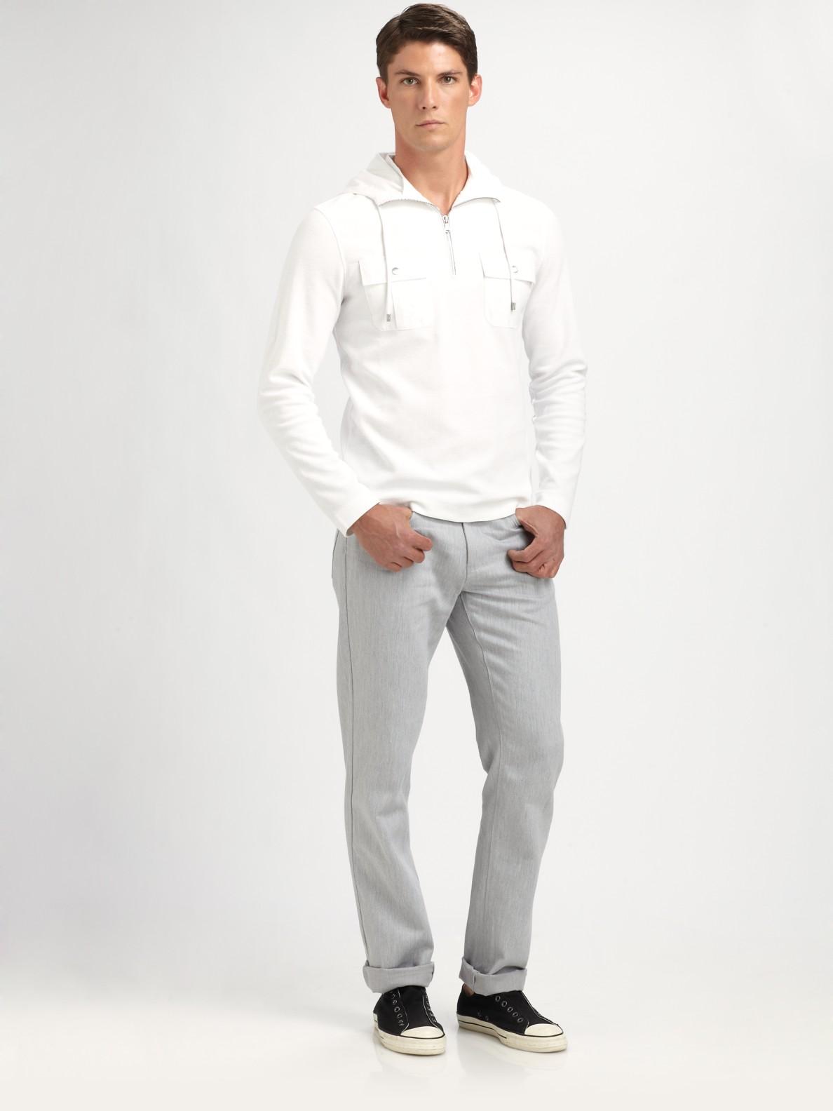 9f19034f9d002 Lyst - Michael Kors Waffleknit Hoodie in White for Men