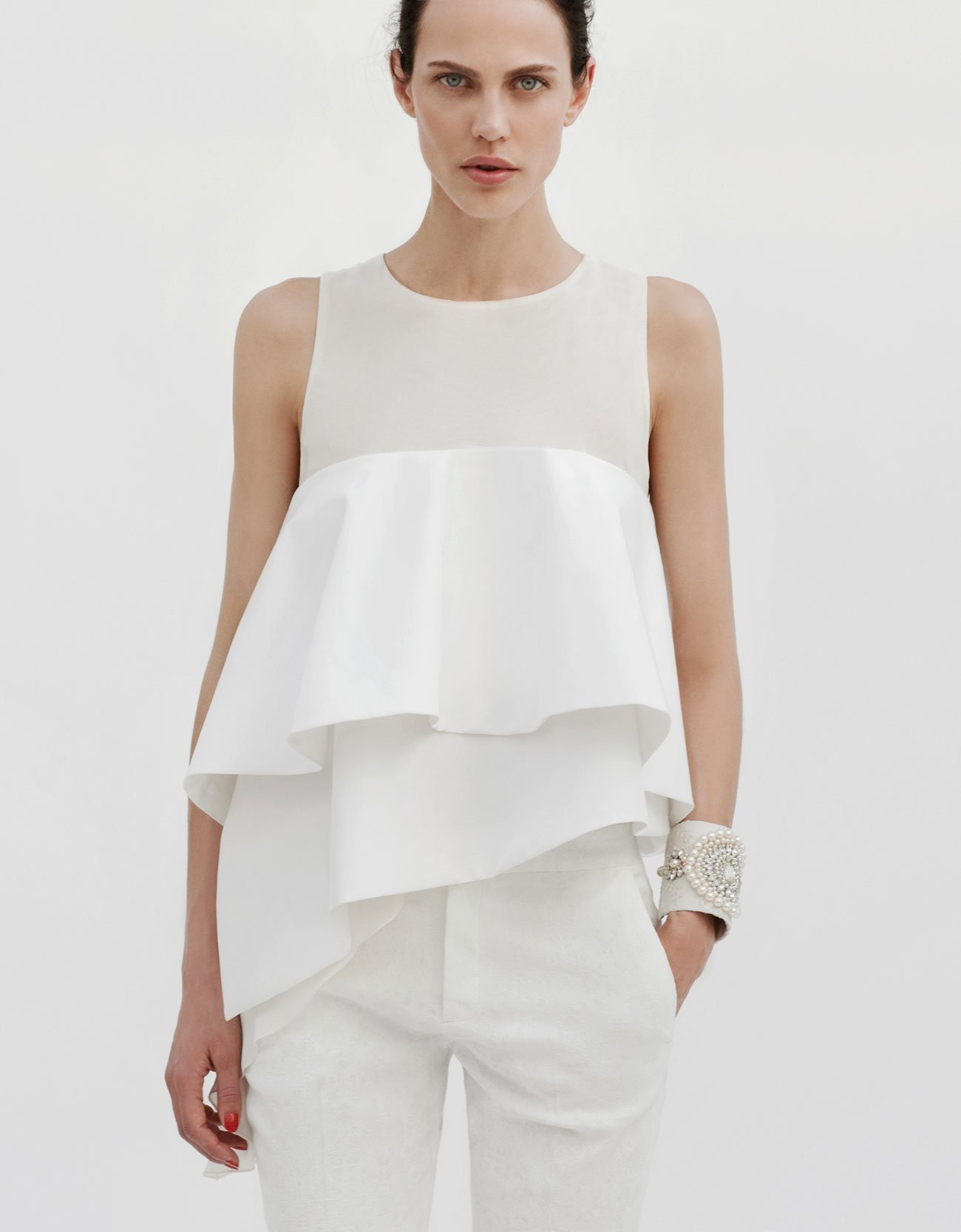 Image result for frill top zara