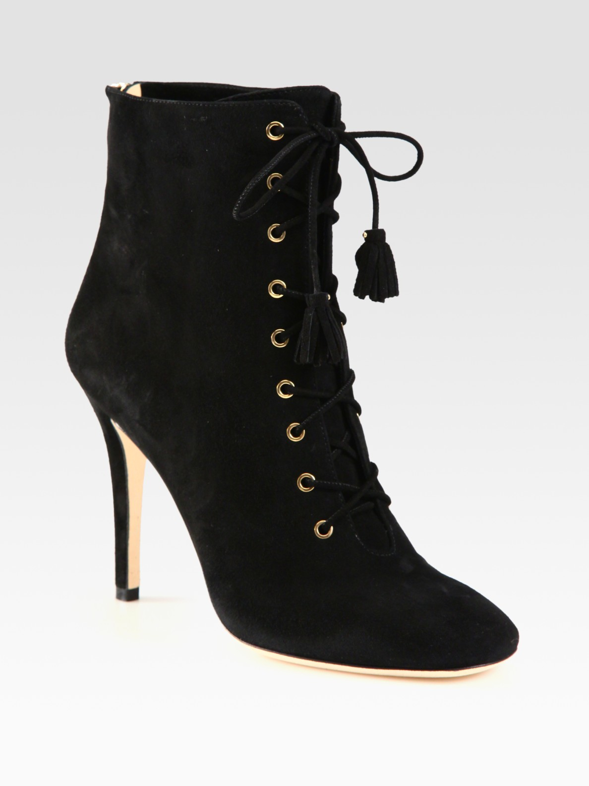 Jimmy Choo Cinder Suede Lace-Up Ankle