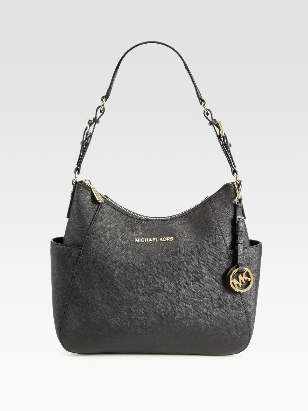97575c22f41c MICHAEL Michael Kors Jet Set Travel Shoulder Bag in Black - Lyst