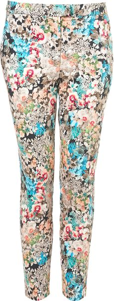 Topshop Coord Floral Print Trousers in Floral (multi)