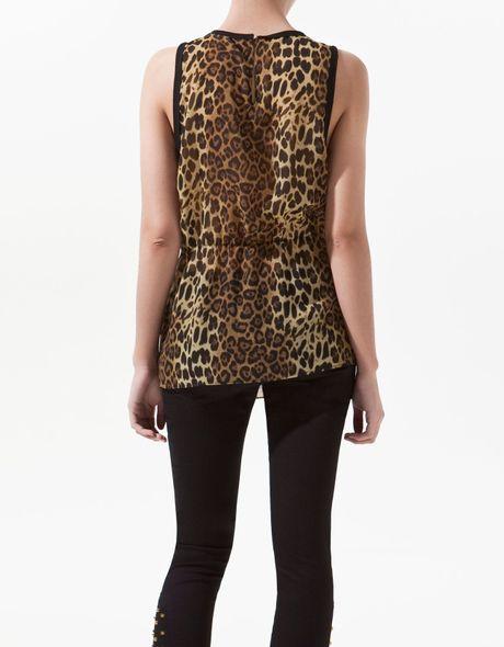 Zara Leopard Blouse 6