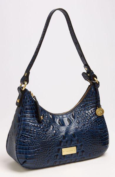 Brahmin Melbourne Lacy Shoulder Bag in Blue (navy)