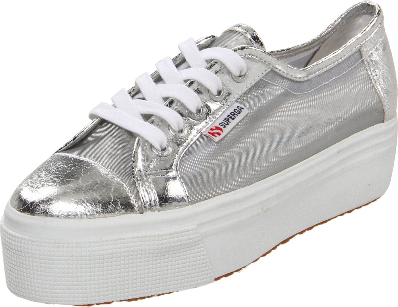 superga platform sneakers in silver lyst. Black Bedroom Furniture Sets. Home Design Ideas
