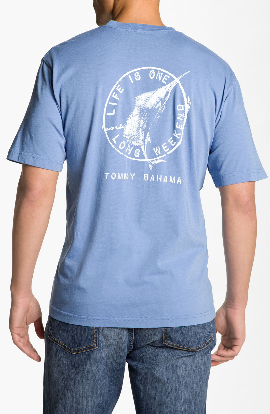 Tommy bahama life is one long weekend tshirt in blue for for Tommy bahama florida shirt