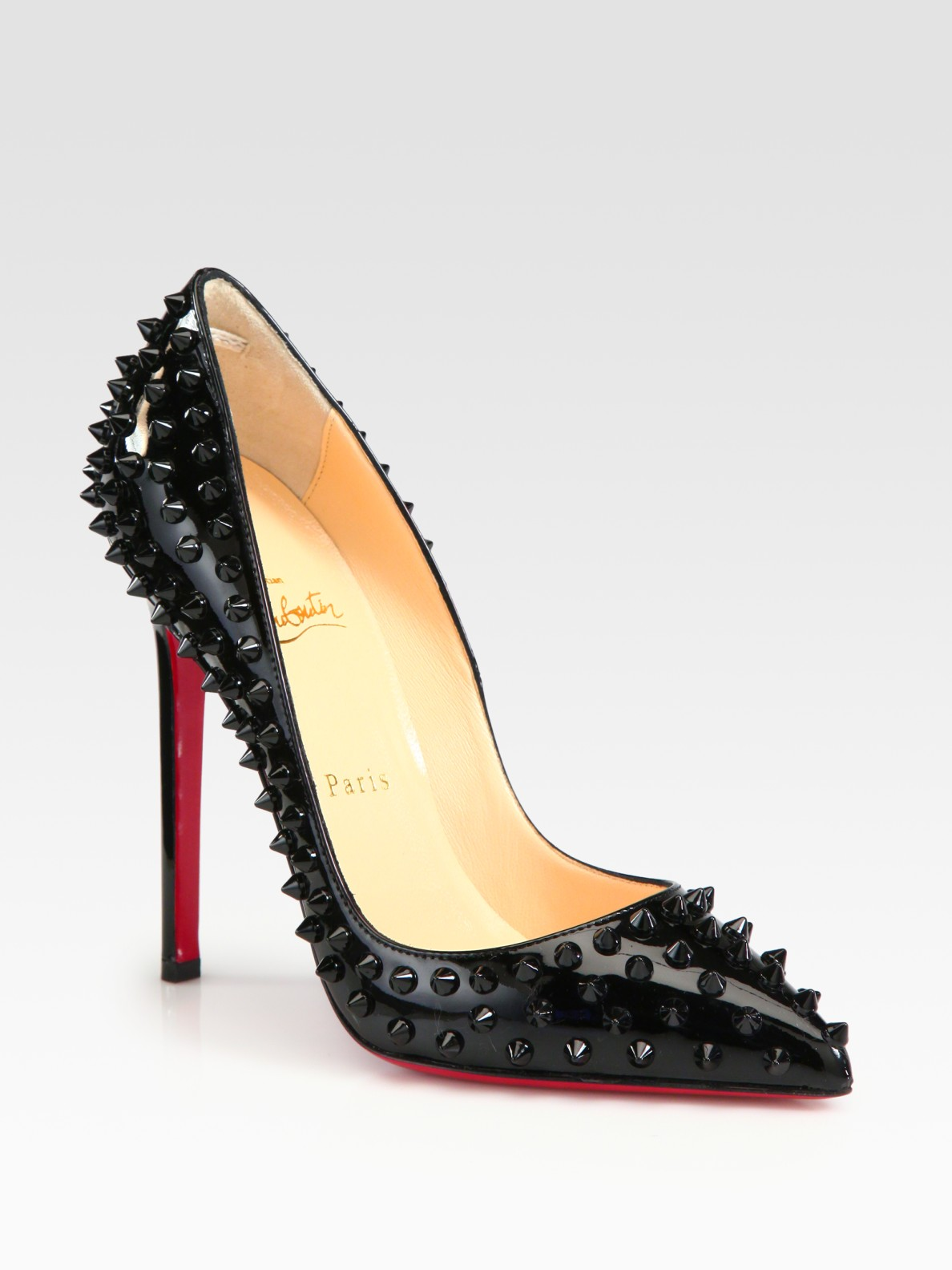 Black Patent Studded Shoes