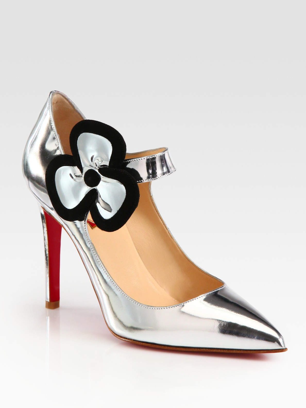 Lyst Christian Louboutin Pensee Metallic Leather And