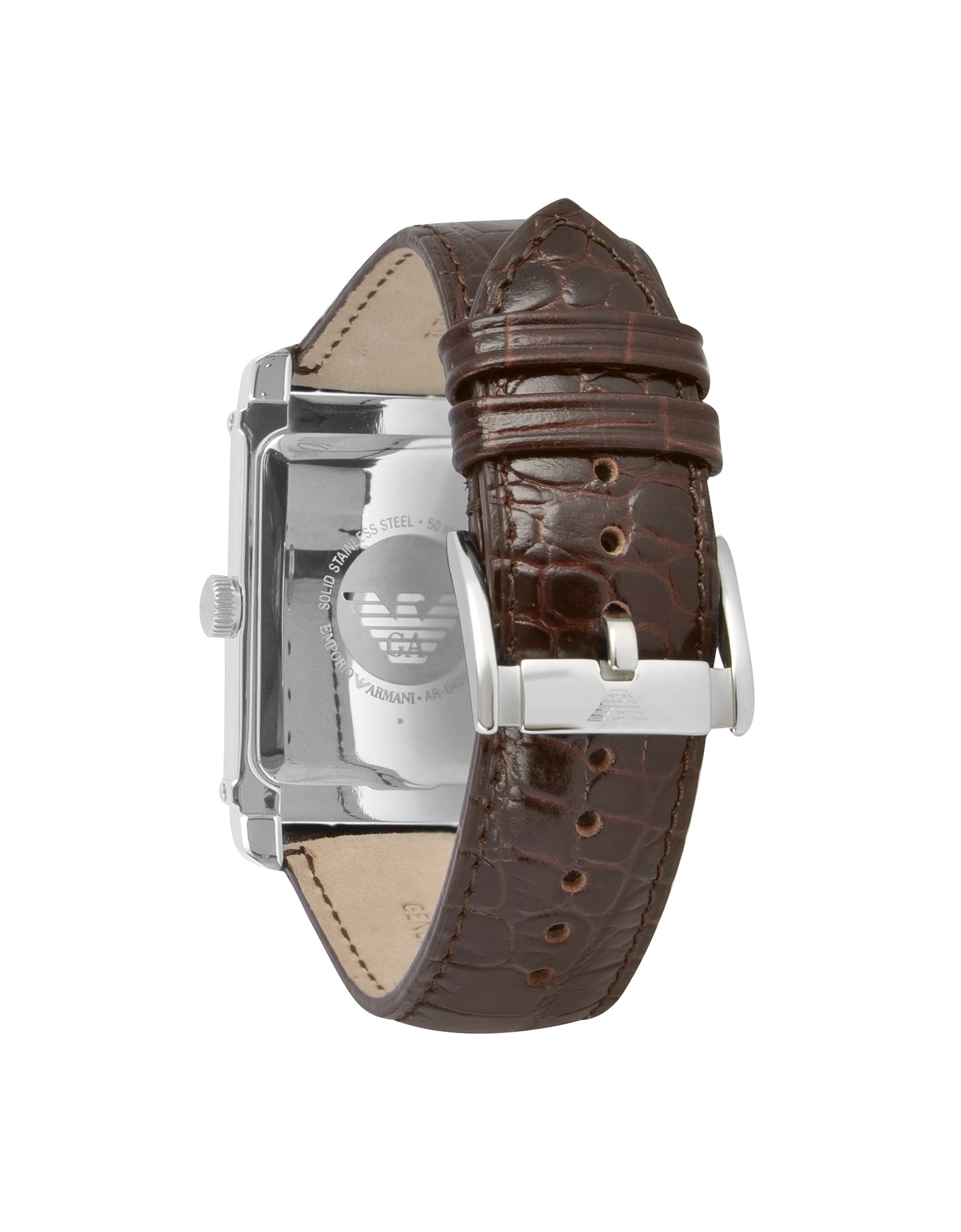 ever popular new concept latest fashion Crocoembossed Leather Strap Dress Watch