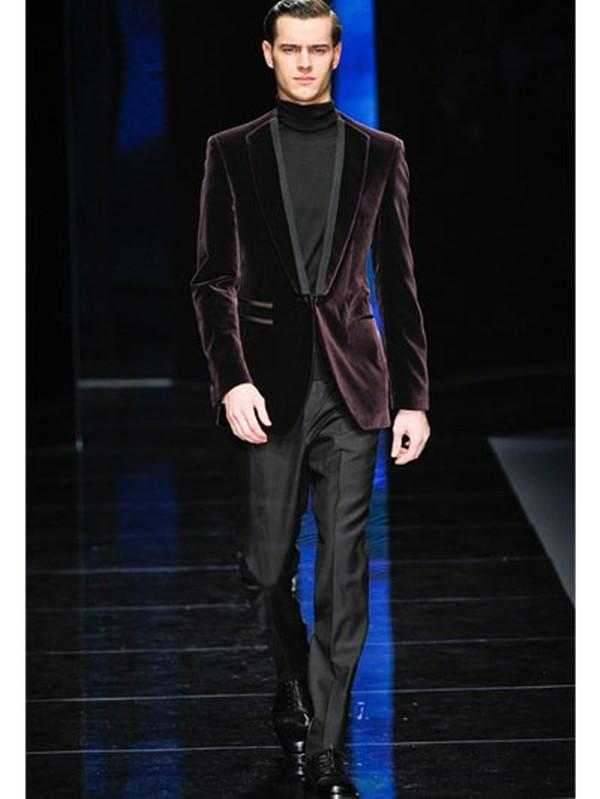 Lyst Ferragamo Velvet Tuxedo Jacket In Purple For Men