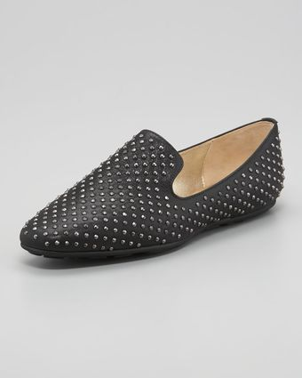 Jimmy Choo Wheel Studded Smoking Slipper - Lyst
