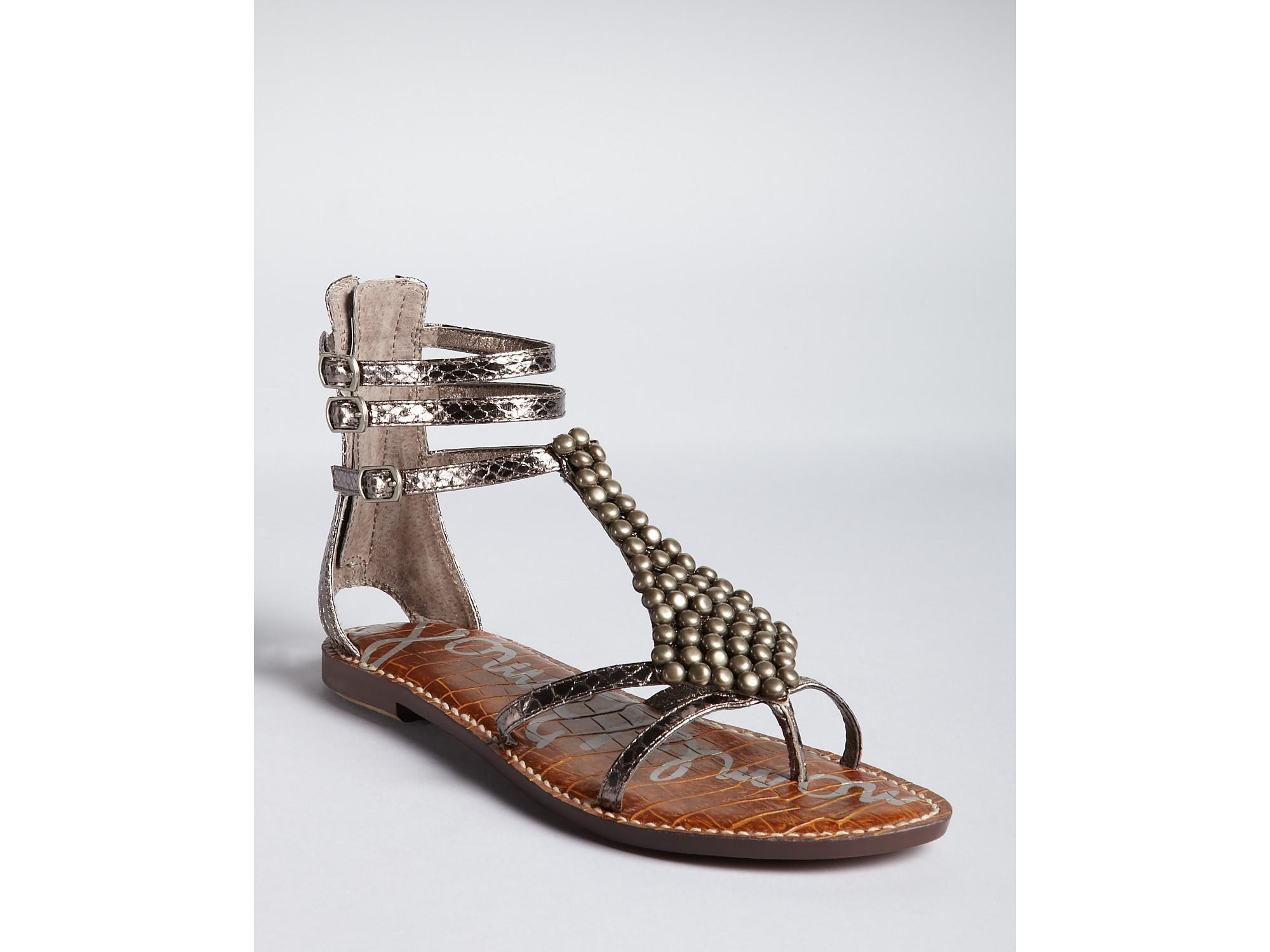 bac3ddb35 Lyst - Sam Edelman Sandals Ginger in Metallic