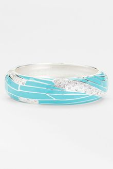Sequin Large Insect Wing Enamel Bangle - Lyst