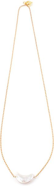 Vanessa Mooney Moon Necklace in Gold - Lyst