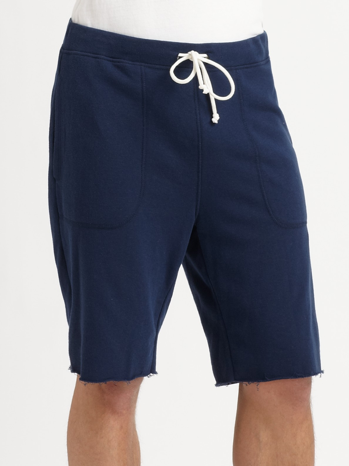 Vince French Terry Sweat-shorts in Blue for Men | Lyst