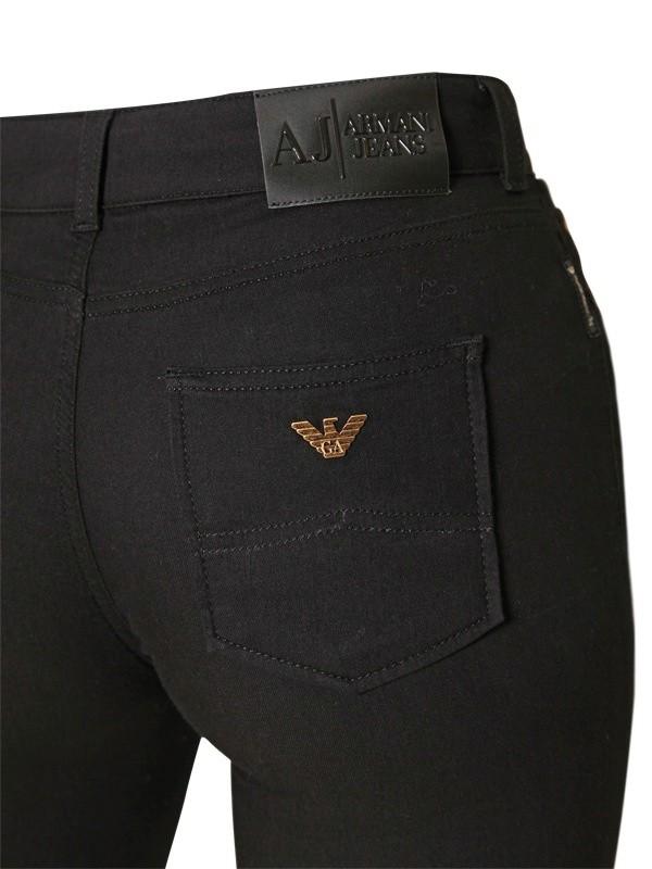 9397115a00 Armani Jeans Black High Waist Denim Stretch Jeggings