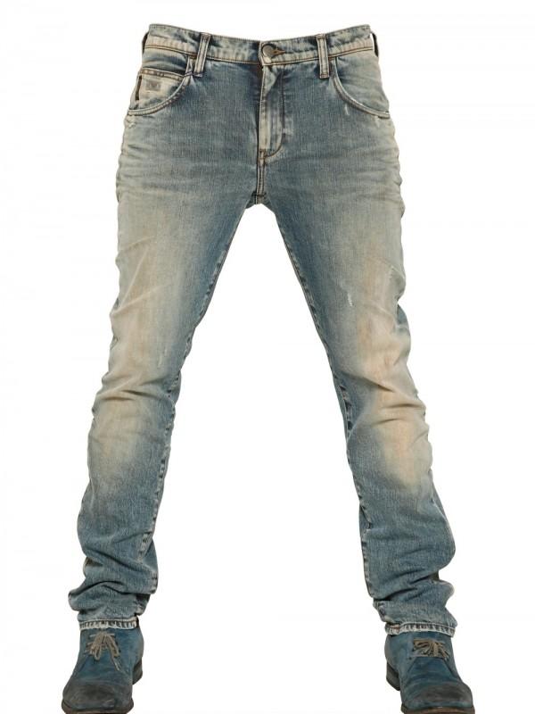 7da5387d Armani Jeans 185cm Vintage Washed Slim Fit Jeans in Blue for Men - Lyst