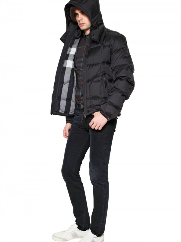 Burberry brit Quilted Nylon Down Jacket in Black for Men | Lyst