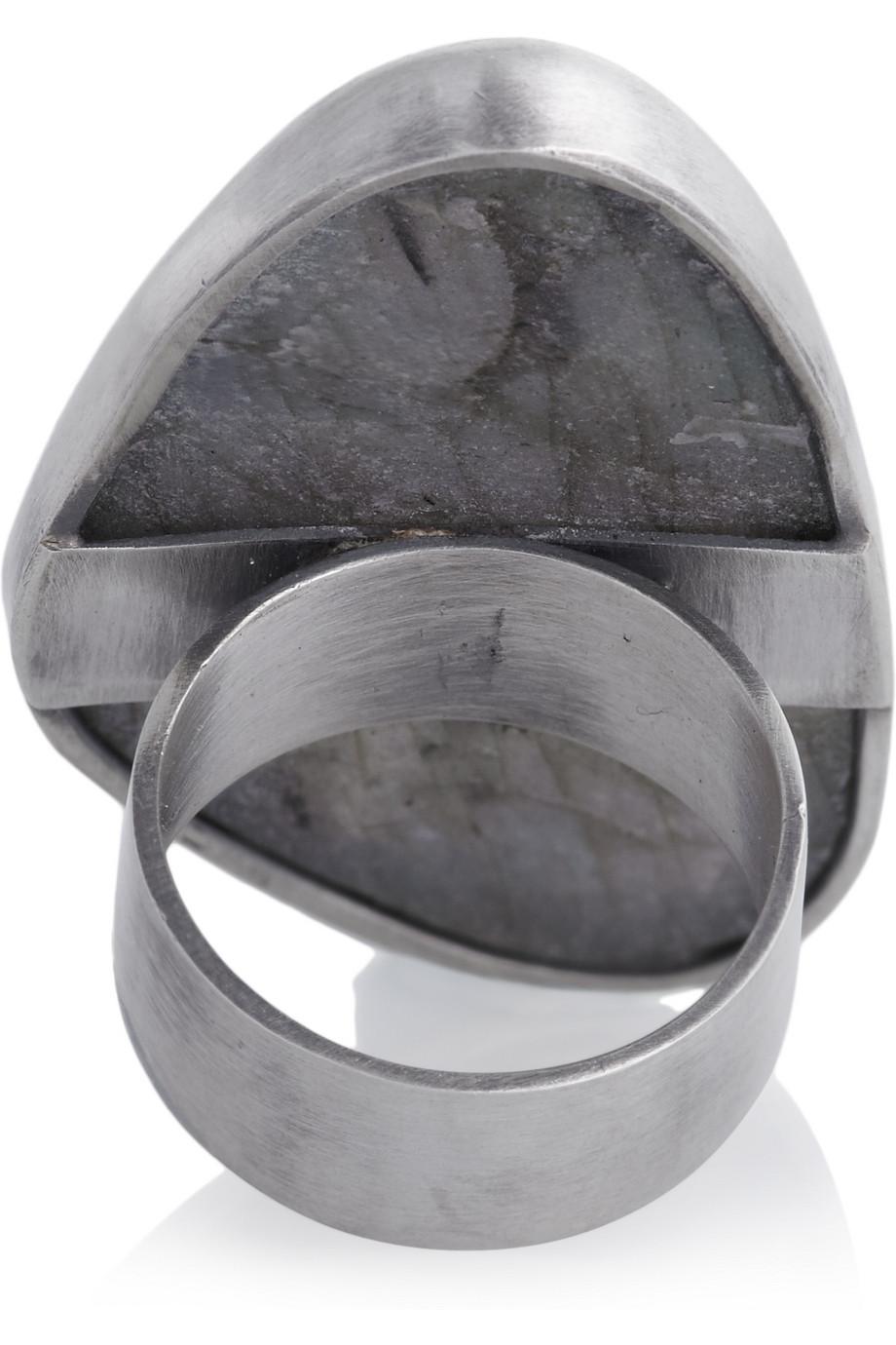 Chan Luu Silver Labradorite Ring in Metallic