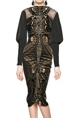 Etro Silk Taffeta and Velvet Dress