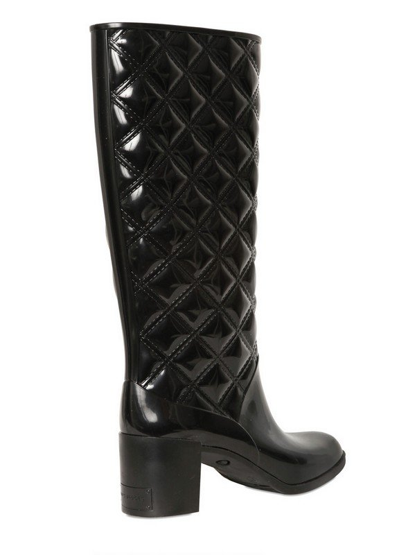 63bcd6ffd0f Lyst - Marc Jacobs Patent Pvc Quilted Pvc Boots in Black